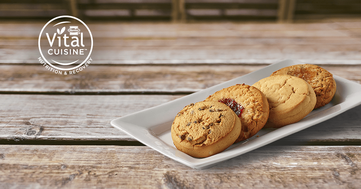 hormel vital cuisine 206 cookies on a plate
