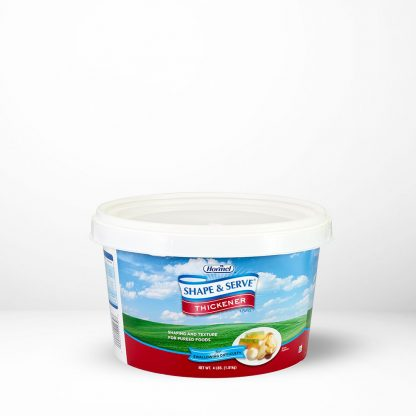 Thick and Easy Instant Shape and Serve Thickener canister on table with white background