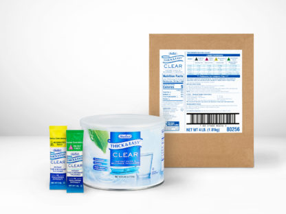 Different sizes of Thick & Easy® Clear Food & Beverage Thickeners