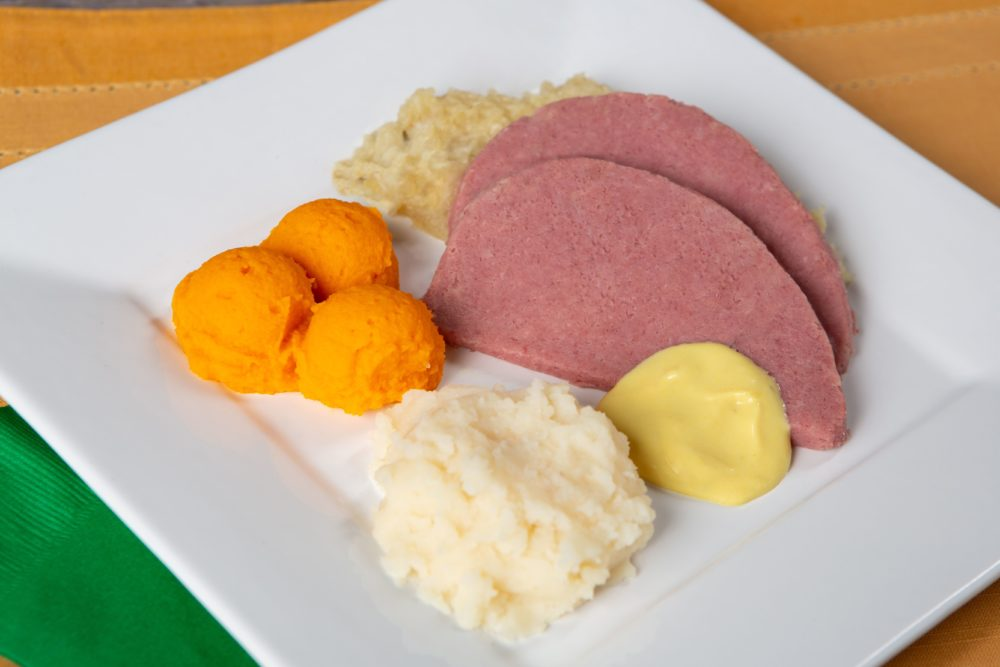 Pureed Corned Beef and cabbage