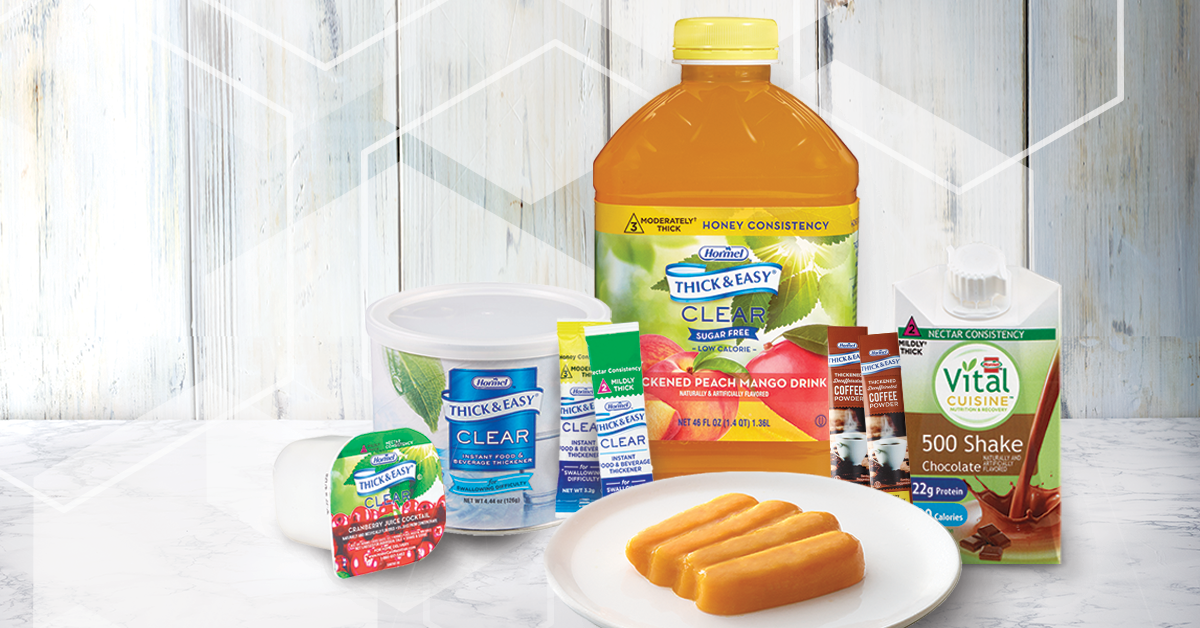 Group shot of Hormel Health Labs dysphagia products