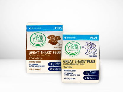 Hormel Vital Cuisine Great Shake™ Plus Soy Shakes chocolate and vanilla flavor