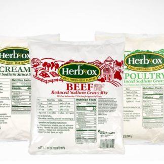 3 Herb-Ox® Reduced Sodium Gravy & Soup Mixes