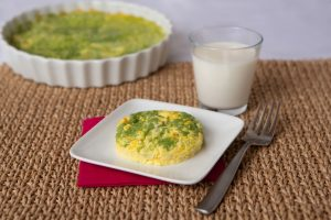Thick & Easy Pureed Broccoli Cheese Egg Dish