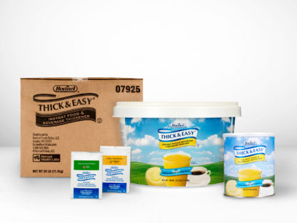 Different sizes of Thick & Easy® Instant Food & Beverage Thickeners