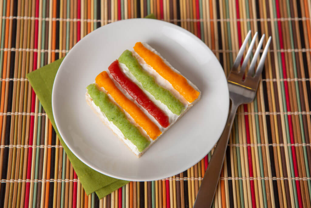 Easy to swallow vegetable bars recipe served on a plate