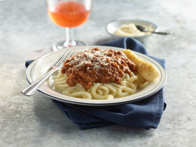 Pasta with beef marinara