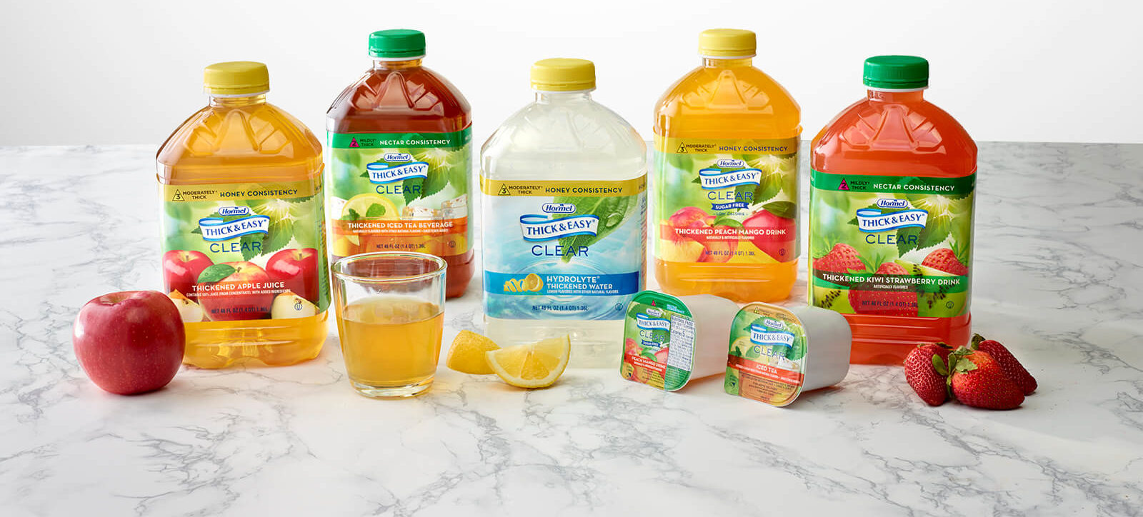 Thick & Easy Clear drinks on table