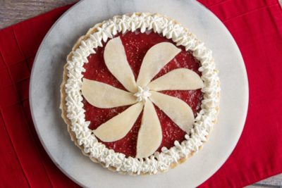 Cranberry Pear Tart dessert for dysphagia diets