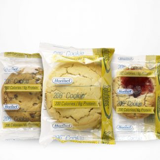 Hormel Vital Cuisine 206 Cookies all flavors on a table with white background