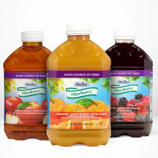 Hormel Health Labs Vital Cuisine FiberBasic juices all flavors on table white background