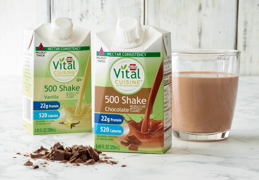 Vital Cuisine 500 Chocolate and Vanilla Shakes on a table