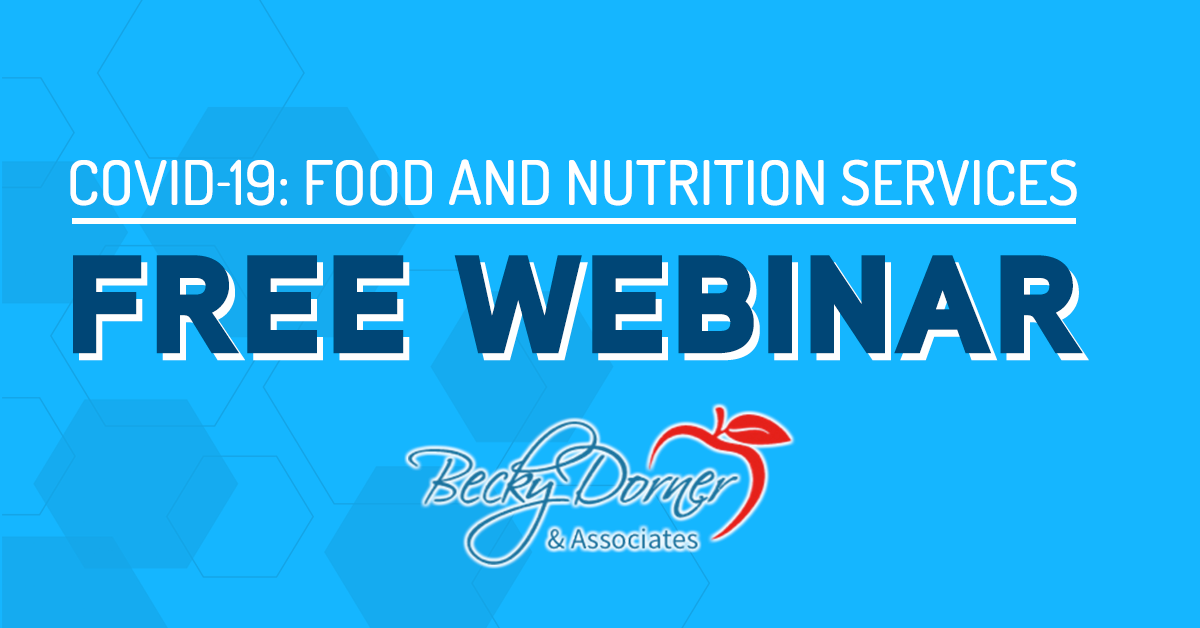 Covid-19 Free Webinar for Food and Nutrition Services poster