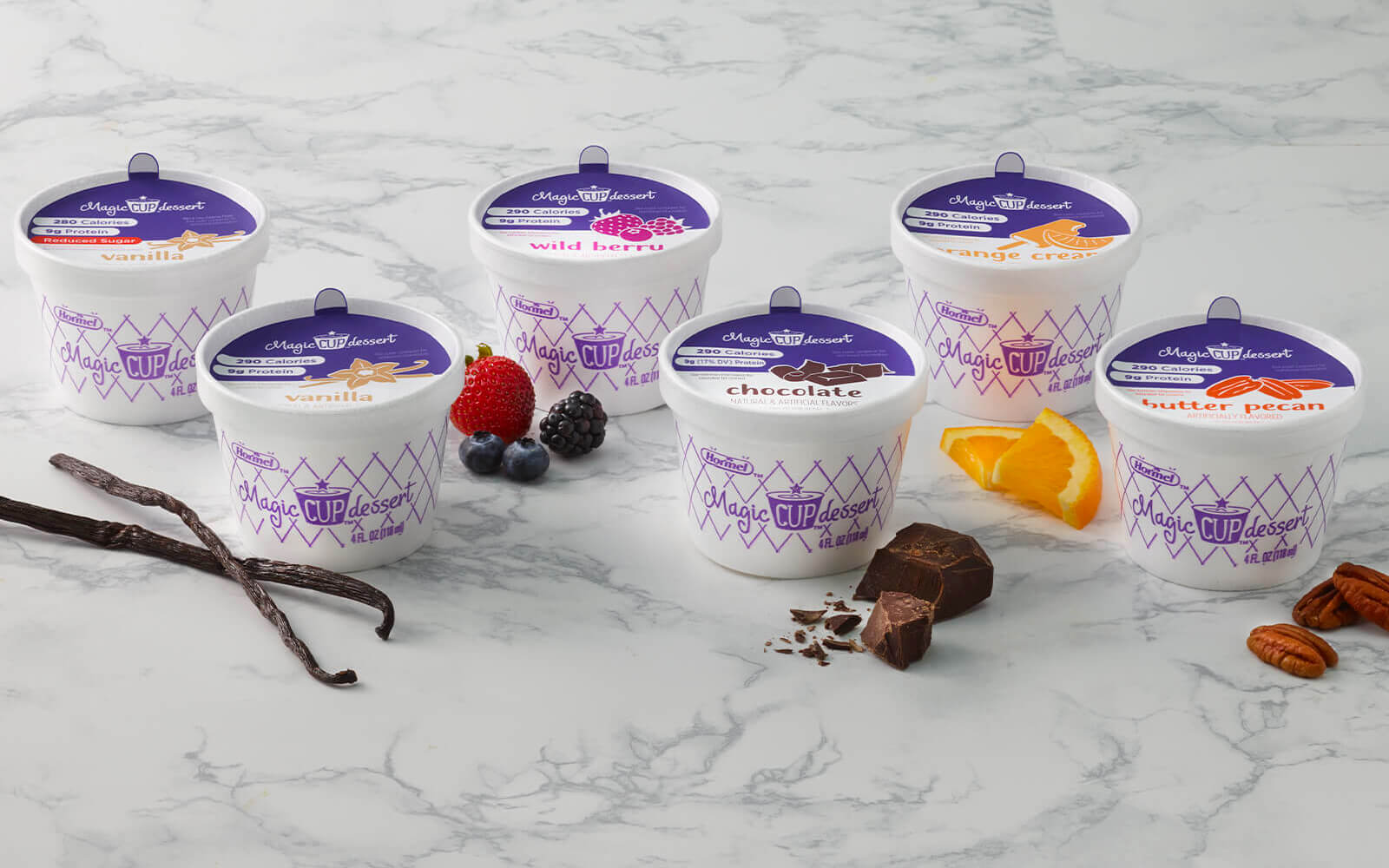 Magic cup variety pack flavors