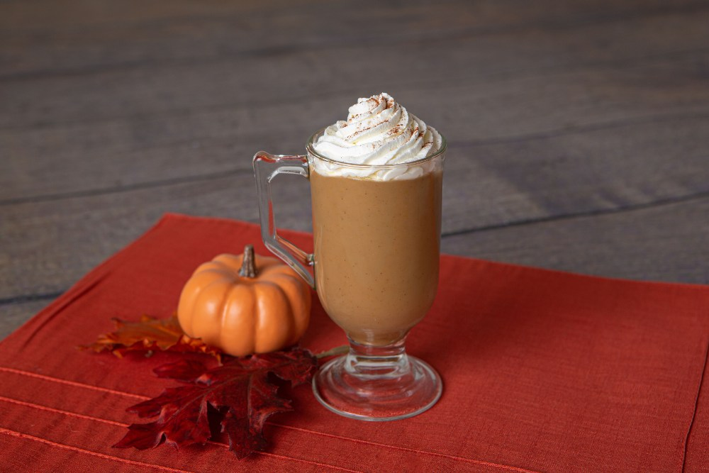 Thickened pumpkin spice latte