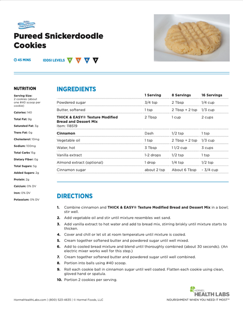 Snickerdoodle cookies recipe page